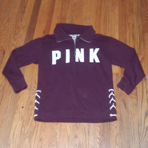 PINK maroon pullover sweater